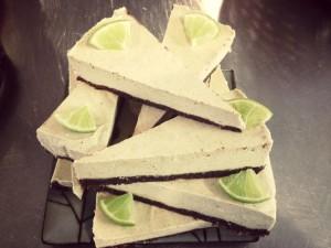 raw lime orange choc vanilla cheezecake