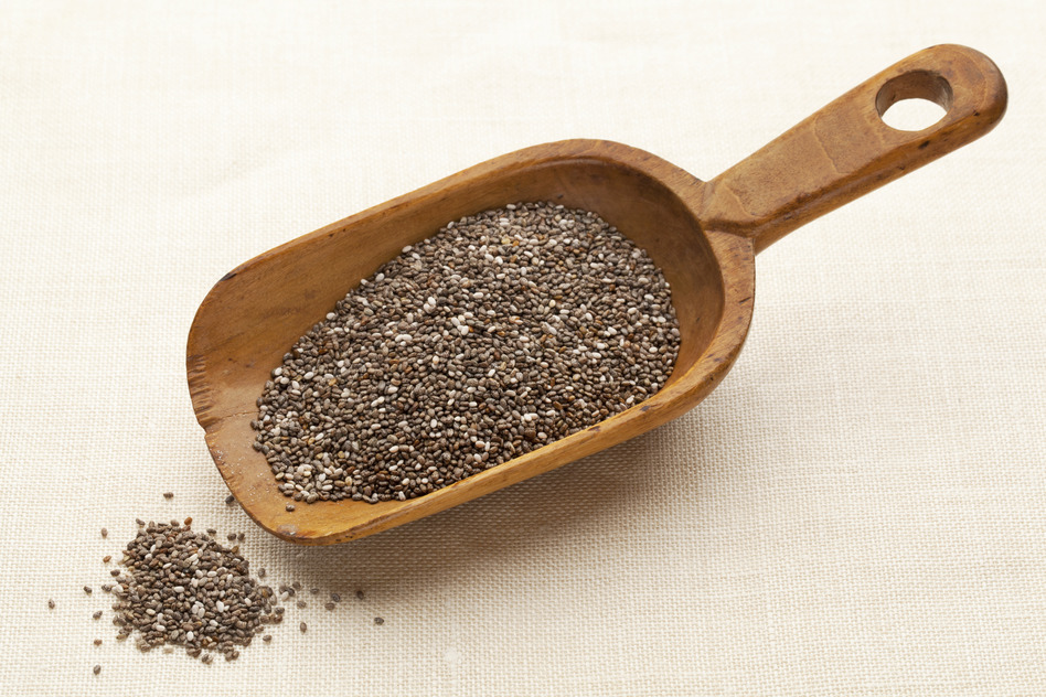 scoop of chia seeds